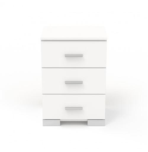 Chevet Galaxy 3 tiroirs - 40 x 58 x 33 cm - Panneau de particules - Blanc