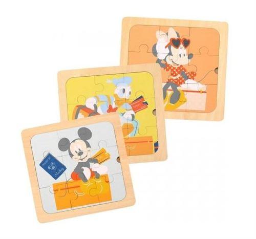 Disney puzzles Mickey Mouse junior 22 cm en bois 3 pièces