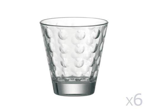 Verre à eau A motifs En verre par Lot de 6 -OPTIC