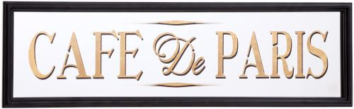 Sil - Miroir inscription Café de Paris feuille d'or