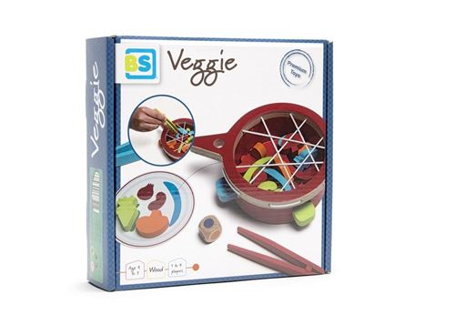 Veggie Buiten Speel Verduras en el plato