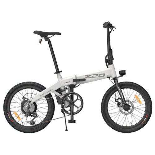 """Vélo électrique pliant HIMO Z20 Blanc - Pliable, 20"""", 250W, Batterie amovible 36V 10Ah"""