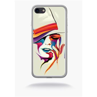 coque iphone 7 silicone visage