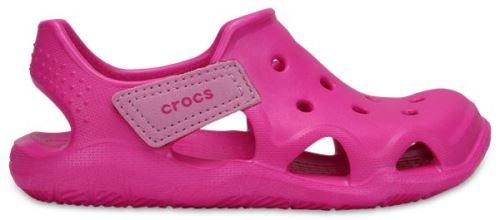 Crocs enfants swiftwater wave sabots <strong>chaussures</strong> sandales en neon magenta 204021 6l0