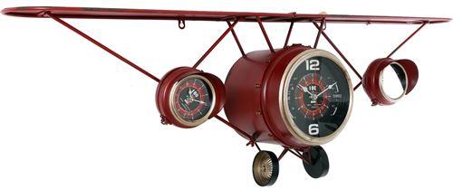 Sil - Horloge calandre d'avion étagère intégrée