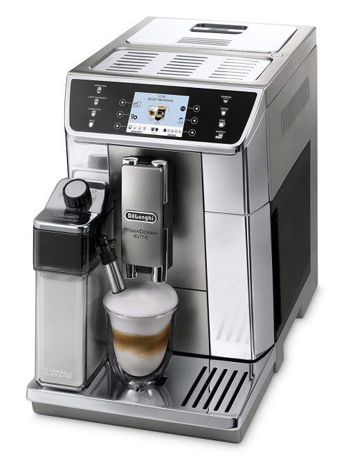 'De'Longhi Prima Donna Elite ECAM 656.55. MS Machine à café entièrement automatique (3,5 Écran couleur TFT, système Lait intégré, App Contrôle, acier inoxydable, fonction de 2 tasses avant) Argent
