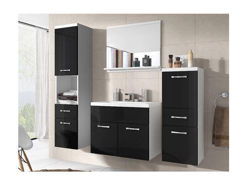 Ensemble CLAUDIA - meubles de salle de bain - laqué noir