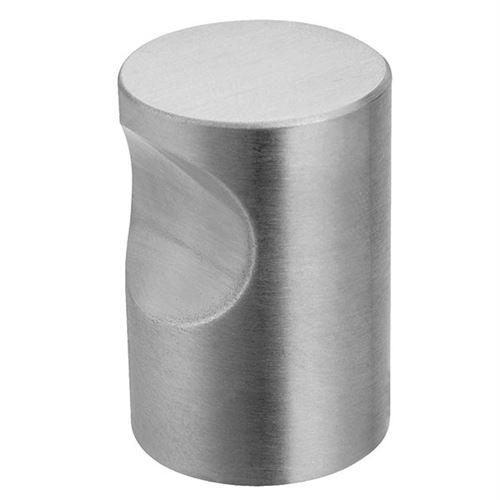 Bouton à encoche Ø20 x 25 mm DESIGN MAT Inox brossé - DM016.IN.20.5