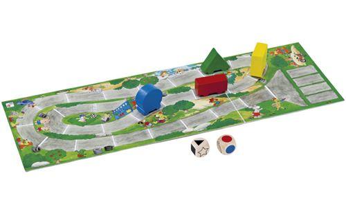 Selecta Spielzeug Autorellijeu de société junior en bois 7-pièces