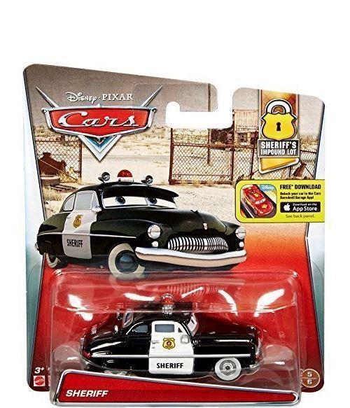 Voiture de police sheriff noir et blanche disney cars vehicule miniature n°5