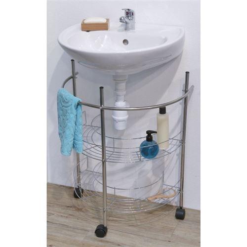 Meuble sous lavabo fil métal