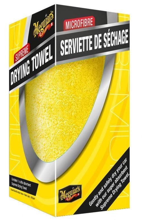 Meguiar's Serviette de séchage Supreme 75 x 55 cm microfibre jaune