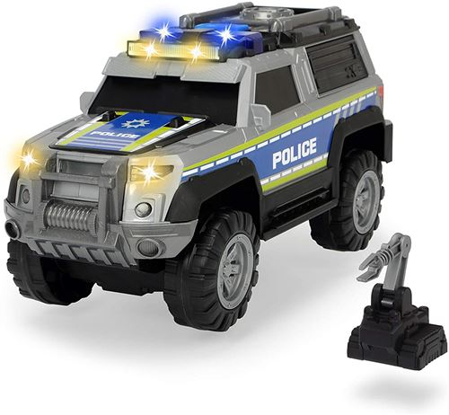 Dickie 203306003 Toys Policier SUV avec Accessoires, Voiture de Police, véhicule Tout-Terrain, Piles incluses 30 cm