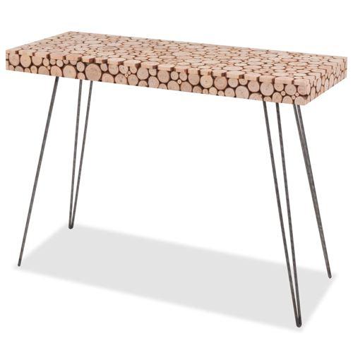 vidaXL Table console Bois véritable 100,5 x 36,8 x 75 cm