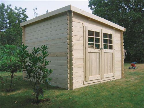 abri jardin brest - 9.28 m² - 3.08 x 3.01 m - 28 mm.