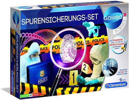 Clementoni 59125 Galileo Science – Kit de Protection Contre Les Traces de Doigts et Les enquêtes DNA pour Enfants à partir de 8 Ans