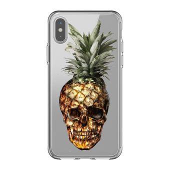 coque iphone x transparente ananas