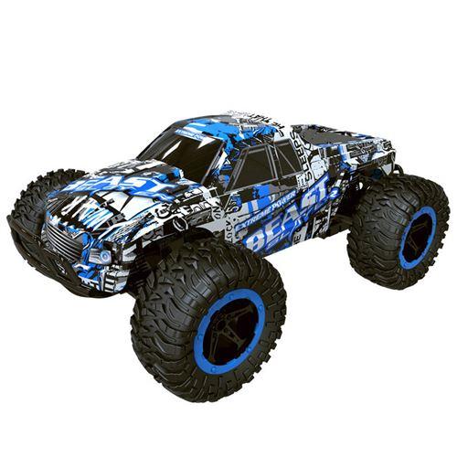 1:16 2WD haute vitesse RC voiture de course télécommande camion tout-terrain Buggy jouets - Bleu