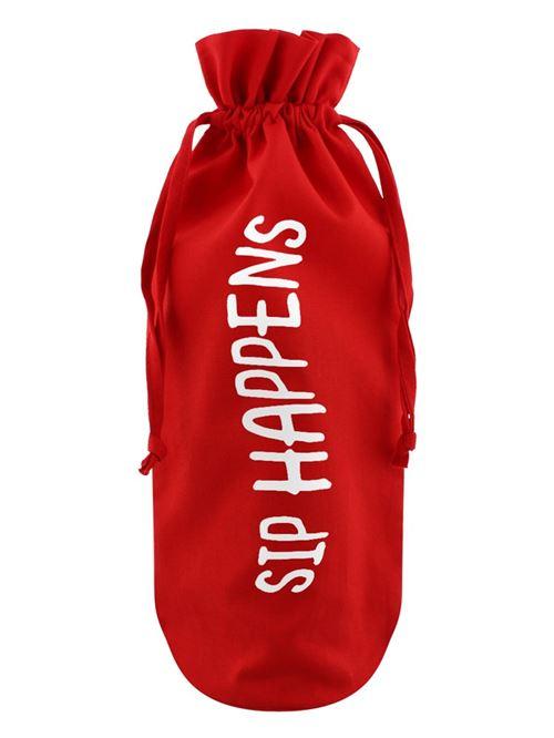 Sac de bouteille Sip Happens rouge