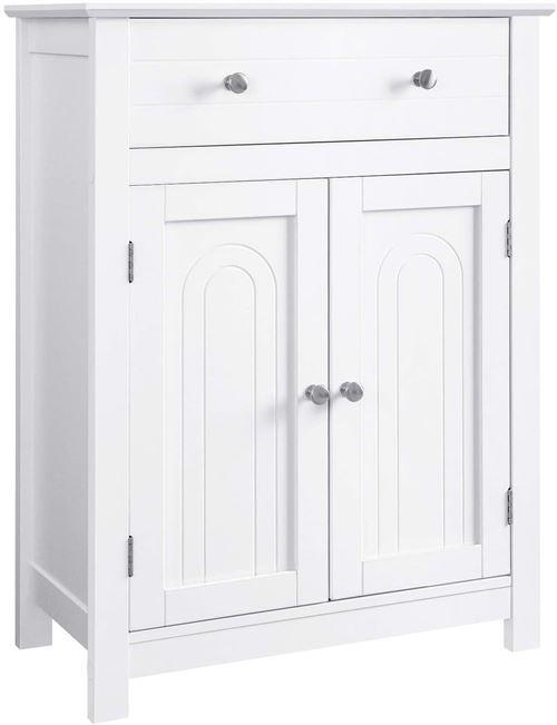 Meuble placard buffet armoire salon salle de bain 80 cm blanc