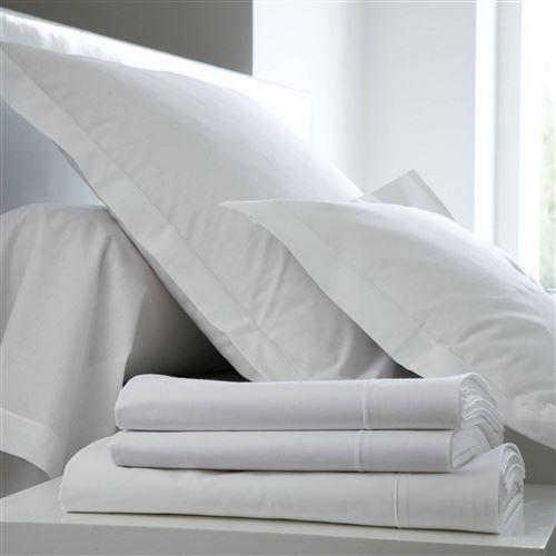 Drap Coton BLANC DES VOSGES - Blanc - 180 x 290 cm