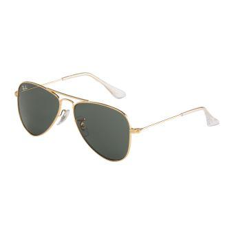 arrive magasiner pour le meilleur couleurs et frappant Ray-Ban Junior Aviator lunettes de soleil Gold RJ9506 S223/71