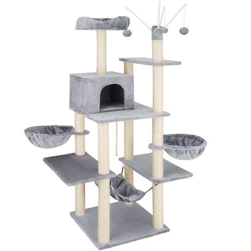 TecTake Arbre à chat LILOU 165 cm - gris