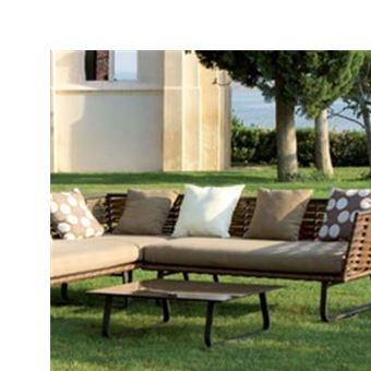Salon Bas De Jardin Horizon En Resine Plate Mobilier De Jardin
