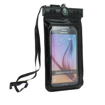Huawei P10 Lite Housse, étui, coque (Brassard sport) étanche pour activités Nautiques humide , - Noir