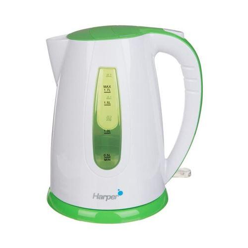 Harper HWK11 - Bouilloire - 1.7 litres - 2200 Watt - blanc/vert