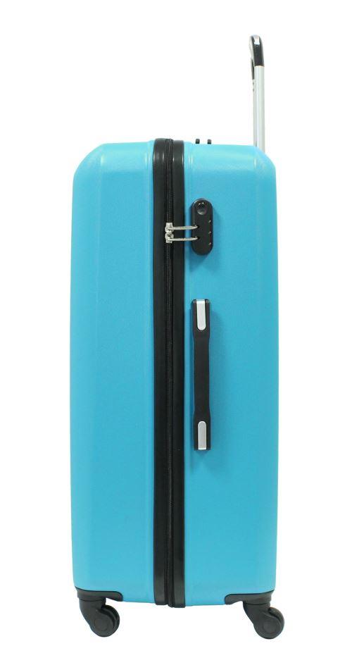 Marque fran/çaise ABS Ultra l/ég/ère et r/ésistante Bleu ALISTAIR Pure Garantie 2 Ans SAV en France Valise Trolley Grande 75cm