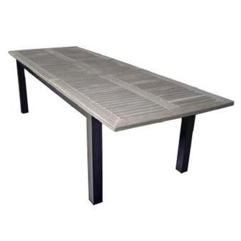 Table De Jardin Extensible En Teck - Dim : 220/280 X 100 Cm -Pegane ...