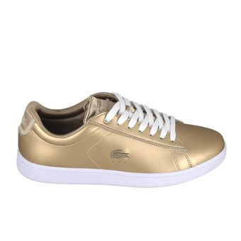 De Evo Femme Chaussures Et Chaussons Lacoste Carnaby Blanc Or 40 WEH92ID