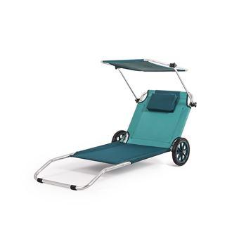 transat de plage pliable chariot roues avec auvent 3en1 mobilier de jardin achat prix fnac - Transat De Plage Pliable