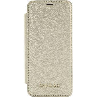 Guess Iridescent Coque clapet avec transparent arrière pour Samsung Galaxy S8, Dorée