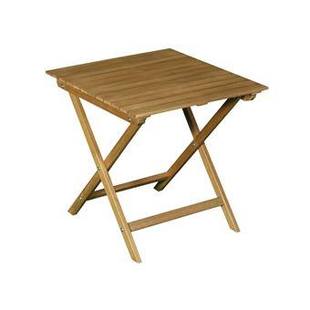 Table basse de jardin en acacia FSC couleur teck CENARI