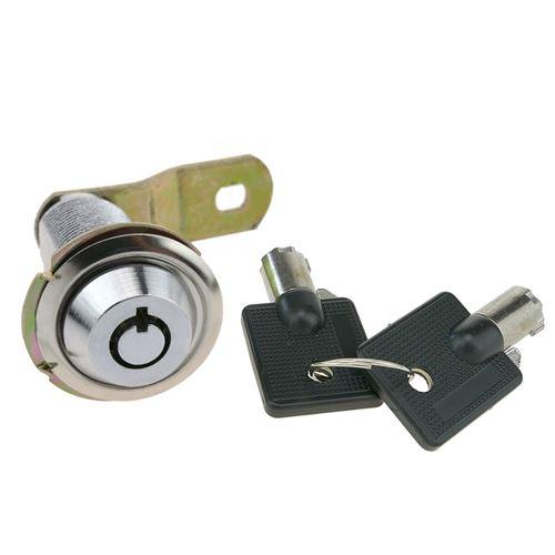 Serrure à came batteuse barillet 37mm x M18 avec clé tubulaire