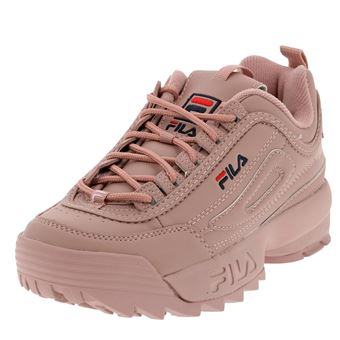Cuir Ou Lilas Low Rose Basses Chaussures Fila Disruptor Simili Rc5j4Aq3SL