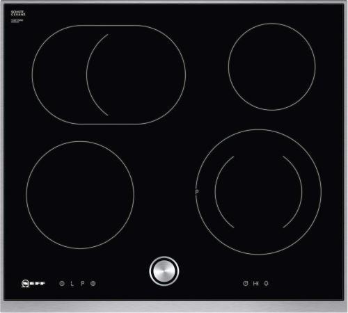 Neff T16TT76N0 - Vitrocéramique - 4 plaques de cuisson - Niche - largeur : 56 cm - profondeur : 50 cm - noir - avec garnitures en acier inoxydable - n