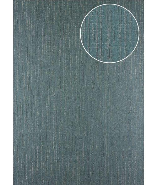 Papier peint à motifs graphiques Atlas 24C-7505-3 papier peint intissé texturé avec un dessin abstrait et des accents métalliques gris gris-vert argent 7,035 m2