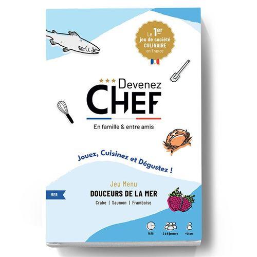 Devenez Chef - Jeu de société culinaire - Menu Douceurs de la mer - Devenez Chef