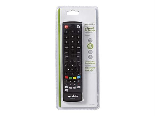 Nedis TVRC2040BK - Télécommande universelle - infrarouge - noir