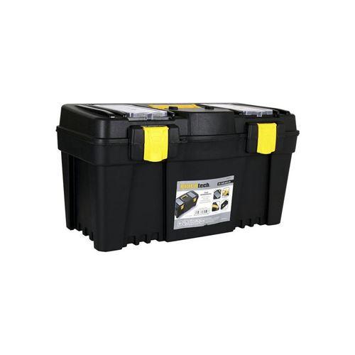 Boîte à outils avec compartiments Bricotech Noir Jaune (59,7 x 28,5 x 32 cm)