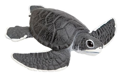 Safari jouer animal tortue de mer garçon 13 cm gris/blanc