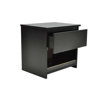 vidaxl lot de 2 table chevet noir achat prix fnac. Black Bedroom Furniture Sets. Home Design Ideas
