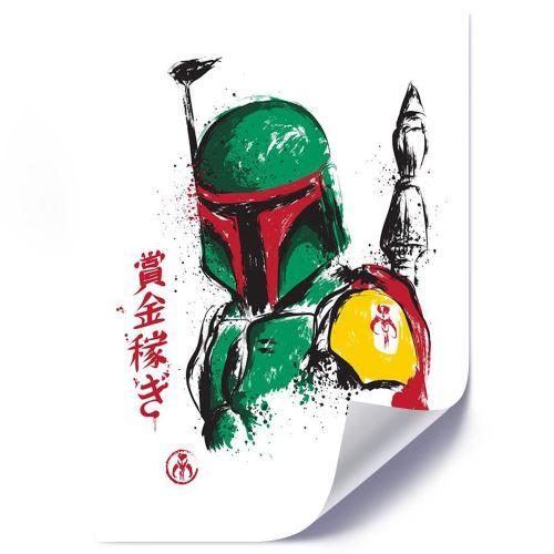 Feeby Affiche imprimée décorative murale Poster Image, Chasseur de primes vert 50x70 cm