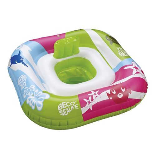 Beco siège Sealifede bain pour bébé 78 x 78 cm vert/rose/bleu