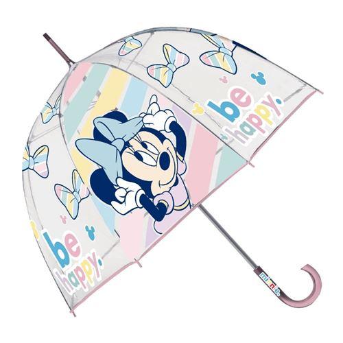 Disney parapluie pour enfants Minnie Mouse fibre de verre transparent