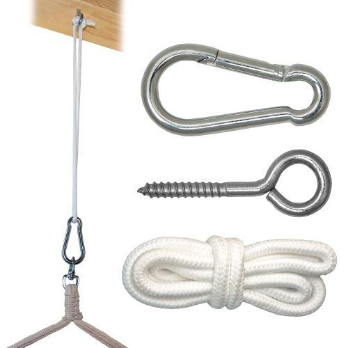Kit de Fixation pour Fauteuil Suspendu Kit pour accrocher chaise hamac balancelle à pendre Métal