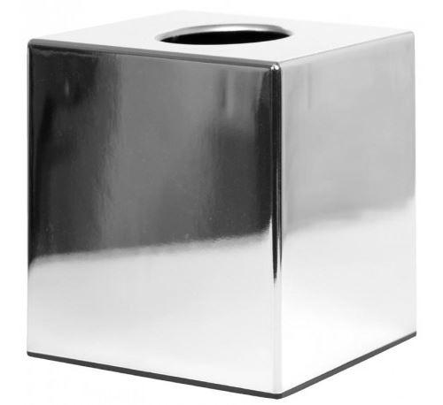 Boîte à mouchoirs cube chromée